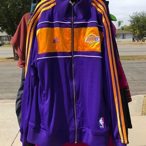 Lakers track jacket